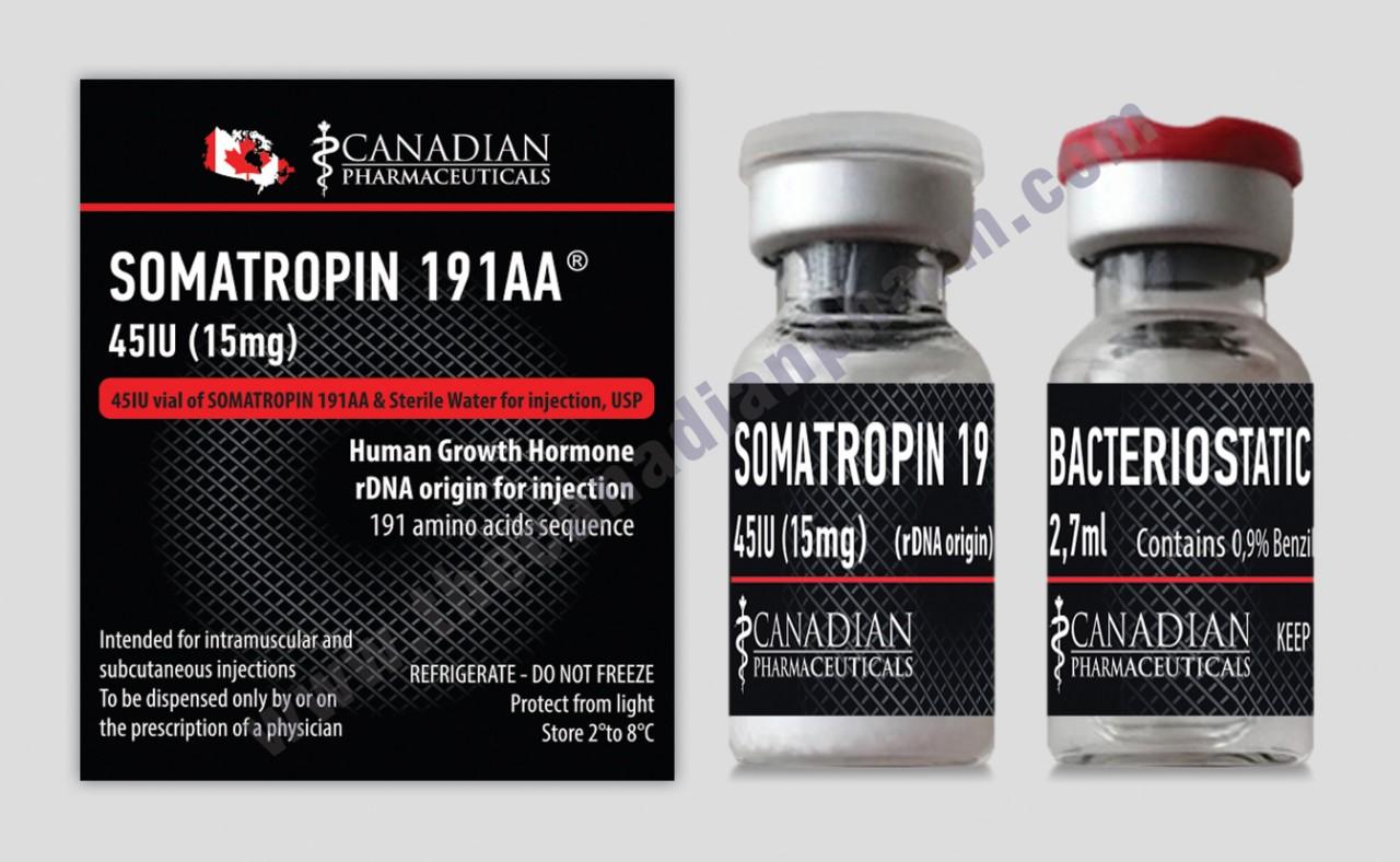 SOMATROPIN 191AA 45IU (15mg) Canadian Pharmaceuticalas