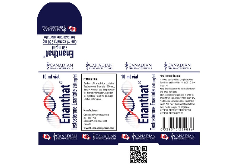 TESTOSTERONE ENANTHATE 250 mg/ml