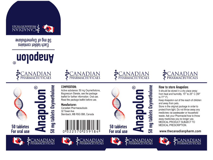 ANAPOLON® 50 miligrams Tablets